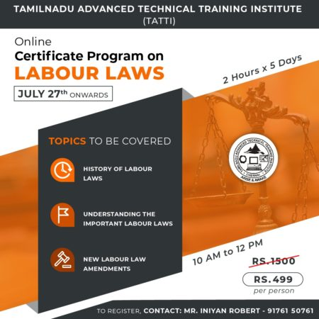 Certificate Program on Labour Laws