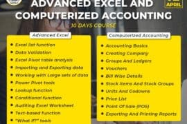 Advanced Excel and Computerized Accounting