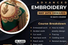 Advanced Embroidery- ONLINE